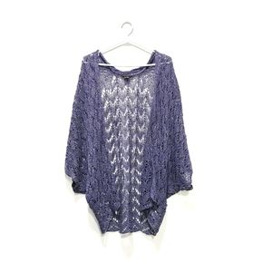 THEORY Ofra Astra Blue Knit Cardigan small